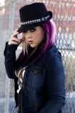 Modèle de mode punk Photos stock