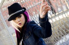 Modèle de mode punk Images stock