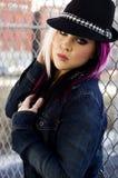 Modèle de mode punk Images libres de droits
