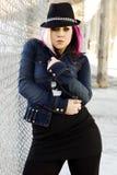 Modèle de mode punk Photos libres de droits