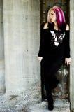 Modèle de mode punk Image libre de droits