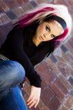 Modèle de mode punk de Goth Images stock