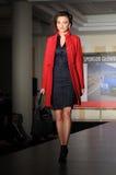 Modèle de mode sur la passerelle Photo libre de droits