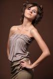 Modèle de mode, verticale. Image stock