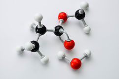 Modèle de molécule de chimie organique Image libre de droits