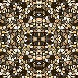 Modèle de mosaïque abstrait sans couture Images libres de droits