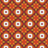 Modèle de mosaïque abstrait sans couture avec des couleurs chaudes Image libre de droits