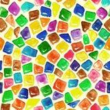 Modèle de mosaïque coloré sans couture d'aquarelle illustration de vecteur