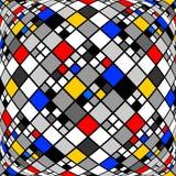 Modèle de mosaïque déformé par monochrome de conception illustration de vecteur