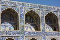 Modèle de mosaïque de mosquée d'Imam dans Esfahan Photos stock