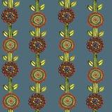 Modèle de mosaïque floral sans couture d'aquarelle Photos libres de droits