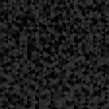 Modèle de mosaïque géométrique de la texture noire de triangle, v abstrait Photos libres de droits