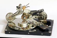 Modèle de moto des pièces de HDD Photos libres de droits