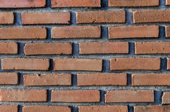 Modèle de mur avec la brique rouge Images libres de droits