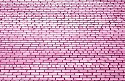 Modèle de mur de briques avec l'effet de tache floue en ton rose illustration libre de droits