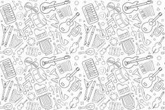 Modèle de musique de vecteur Fond sans joint de musique illustration stock