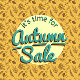 Modèle de nature d'Autumn Sale Banner With Photos libres de droits