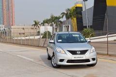 Modèle de Nissan Sunny 2013 Photographie stock libre de droits