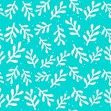 Modèle de Noël avec l'arbre, le houx, la neige et les étoiles Illustration de vecteur Calibre pour Scrapbooking de salutation illustration libre de droits