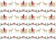 Modèle de Noël avec Santa clous et vecteur de cerfs communs Images libres de droits