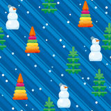 Modèle de Noël de Snowman_12 Photos stock