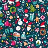 Modèle de Noël et de nouvelle année illustration de vecteur