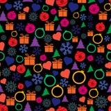 Modèle de Noël sans couture de vecteur et de nouvelle année Photos libres de droits