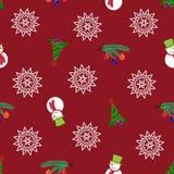 Modèle de Noël sans couture et de nouvelle année Photos libres de droits