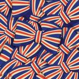 Modèle de noeud papillon de drapeau de la Grande-Bretagne Photos libres de droits