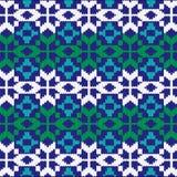 Modèle de nordic de knit d'abrégé sur Noël Photographie stock