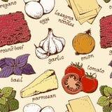 Modèle de nourriture de lasagne illustration stock