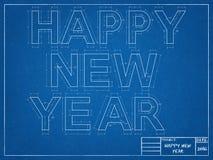 Modèle de nouvelle année Photos stock