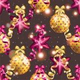 Modèle de nouvelle année avec la boule Papier peint de Noël Images stock