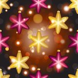 Modèle de nouvelle année avec la boule Papier peint de Noël Image libre de droits