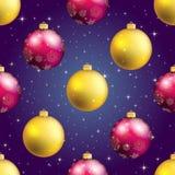 Modèle de nouvelle année avec la boule Papier peint de Noël Photo stock
