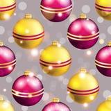 Modèle de nouvelle année avec la boule Papier peint de Noël Photo libre de droits