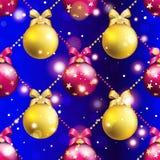 Modèle de nouvelle année avec la boule Papier peint de Noël Image stock