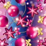Modèle de nouvelle année avec la boule Papier peint de Noël Photos stock