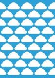 Modèle de nuage photos libres de droits