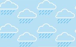 Modèle de nuage de pluie Image stock
