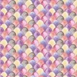 Modèle de Pâques d'aquarelle avec les oeufs multicolores illustration stock