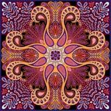 Modèle de Paisley de vecteur d'Inde, ornement décoratif pour le textile, emballage ou décor de bandana Conception de Bohème de fo Image libre de droits
