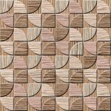 Modèle de panneau de mur intérieur - texture soufflée en bois de cannelure de chêne Photo stock