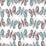 Modèle de papillon abstrait Photo libre de droits