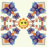 Modèle de papillon de sourire Images libres de droits