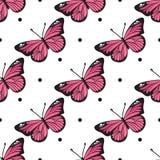 Modèle de papillon sans couture pour votre conception de bébé illustration libre de droits