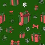 Modèle de papper de Noël pour le vecteur coloré par cadeaux illustration stock