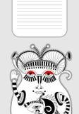 Modèle de personnalité de monstre avec l'endroit pour votre texte Image stock
