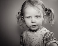 Modèle de petite fille Photos stock