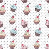Modèle de petits gâteaux de griffonnage Image stock